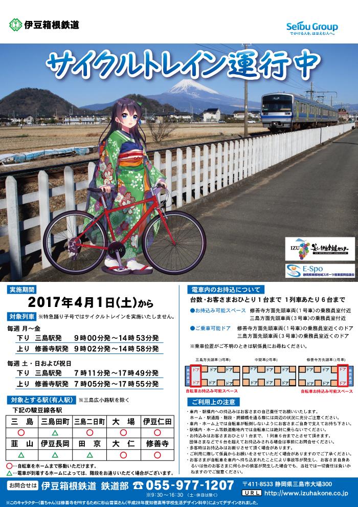 伊豆箱根鉄道の駿豆線 サイクルトレイン